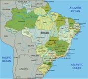 Mappa politica editabile altamente dettagliata con gli strati separati brazil illustrazione di stock