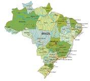 Mappa politica editabile altamente dettagliata con gli strati separati brazil illustrazione vettoriale