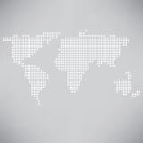 Mappa punteggiata dei worls Immagine Stock