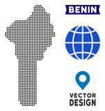 Mappa punteggiata del Benin Immagine Stock