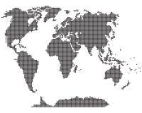 Mappa semplice del mondo. Fotografia Stock