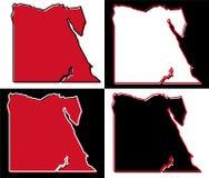 Mappa semplificata del profilo dell'Egitto Il materiale di riempimento ed il colpo sono co nazionale royalty illustrazione gratis