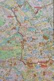 Mappa stradale di Berlin Wall Fotografia Stock Libera da Diritti