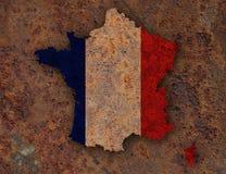 Mappa strutturata della Francia nei colori piacevoli Fotografia Stock