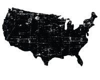 Mappa strutturata nera di U.S.A. Fotografie Stock Libere da Diritti
