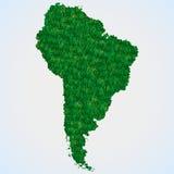 Mappa Sudamerica da erba Fotografia Stock Libera da Diritti