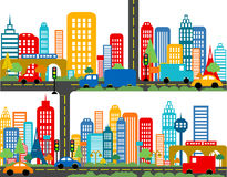 Mappa sveglia della città immagini stock libere da diritti