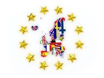 Mappa tridimensionale di Europa. Fotografie Stock Libere da Diritti