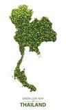 Mappa verde della foglia della Tailandia Illustrazione Vettoriale