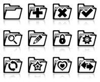 Mappadministrationssymboler Royaltyfria Bilder