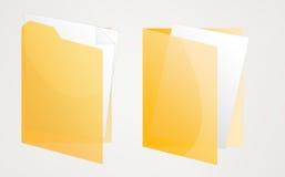 mappar öppnade yellow två Fotografering för Bildbyråer