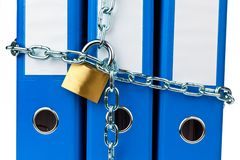 mappar för chain mapp låste Royaltyfri Fotografi