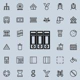 mappar för dokumentsymbol Detaljerad uppsättning av den minimalistic linjen symboler Högvärdig grafisk design En av samlingssymbo Royaltyfri Fotografi