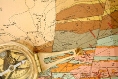 Mappatura geologica Fotografie Stock