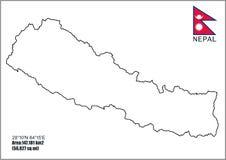 Mappe del Nepal | Mappa dettagliata del Nepal royalty illustrazione gratis