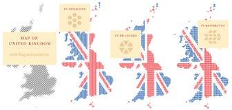 Mappe del Regno Unito Fotografia Stock