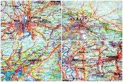 Mappe della Germania Immagini Stock