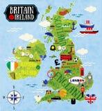 Mappe della Gran-Bretagna e dell'Irlanda Immagine Stock
