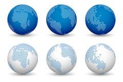 mappe di mondo 3d Fotografia Stock Libera da Diritti