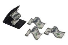 Mappe, die Geld isst Lizenzfreie Stockfotos