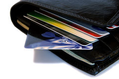 Mappe mit Kreditkarten lizenzfreies stockfoto