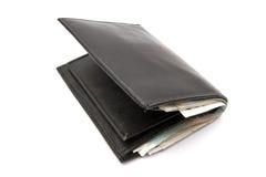 Mappe und Bargeld Lizenzfreies Stockbild