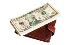 Mappe und Dollar Stockfotografie