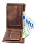 Mappe und Geld Lizenzfreie Stockbilder