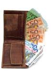 Mappe und Geld Stockfotos