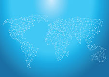 Mapped global network Royalty Free Stock Photos