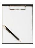 mappen papers pennan Fotografering för Bildbyråer