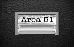 Mappenhet för område 51 Arkivfoton