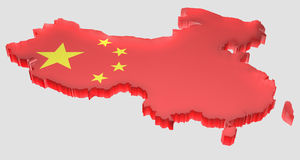 Mappi la Cina Immagini Stock Libere da Diritti