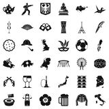 Mapping icons set, simple style Stockbild