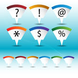 Mapping Pin Icon Set Royalty Free Stock Images
