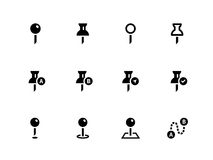 Mapping Pin icons on white background. Vector illustration Royalty Free Illustration