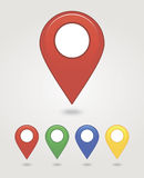 Mapping pins icon. EPS 10 vector file has transparency (shadow under the icons Royalty Free Stock Image