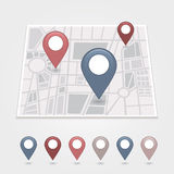 Mapping pins icon. EPS 10 vector file has transparency (shadow under the icons Royalty Free Stock Photos