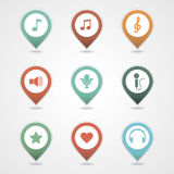Mapping pins icon Royalty Free Stock Photography