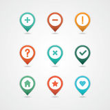 Mapping pins icon Royalty Free Stock Photo