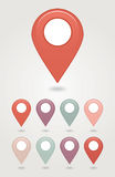 Mapping pins icon Stock Photo