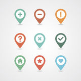 Mapping pins icon Stock Photos