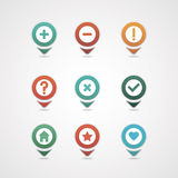 Mapping pins icon Royalty Free Stock Photos