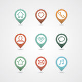 Mapping pins icon Stock Image