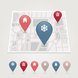 Mapping pins icon Royalty Free Stock Images