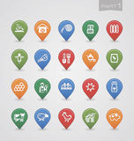 Mapping pins icons Farm part 1 Stock Image