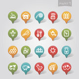 Mapping pins icons Farm part 1 Royalty Free Stock Image