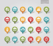 Mapping pins icons Farm part 2 Royalty Free Stock Image