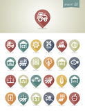 Mapping pins icons Farm part 2 Royalty Free Stock Photography
