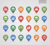 Mapping pins icons Farm part 2 Stock Images